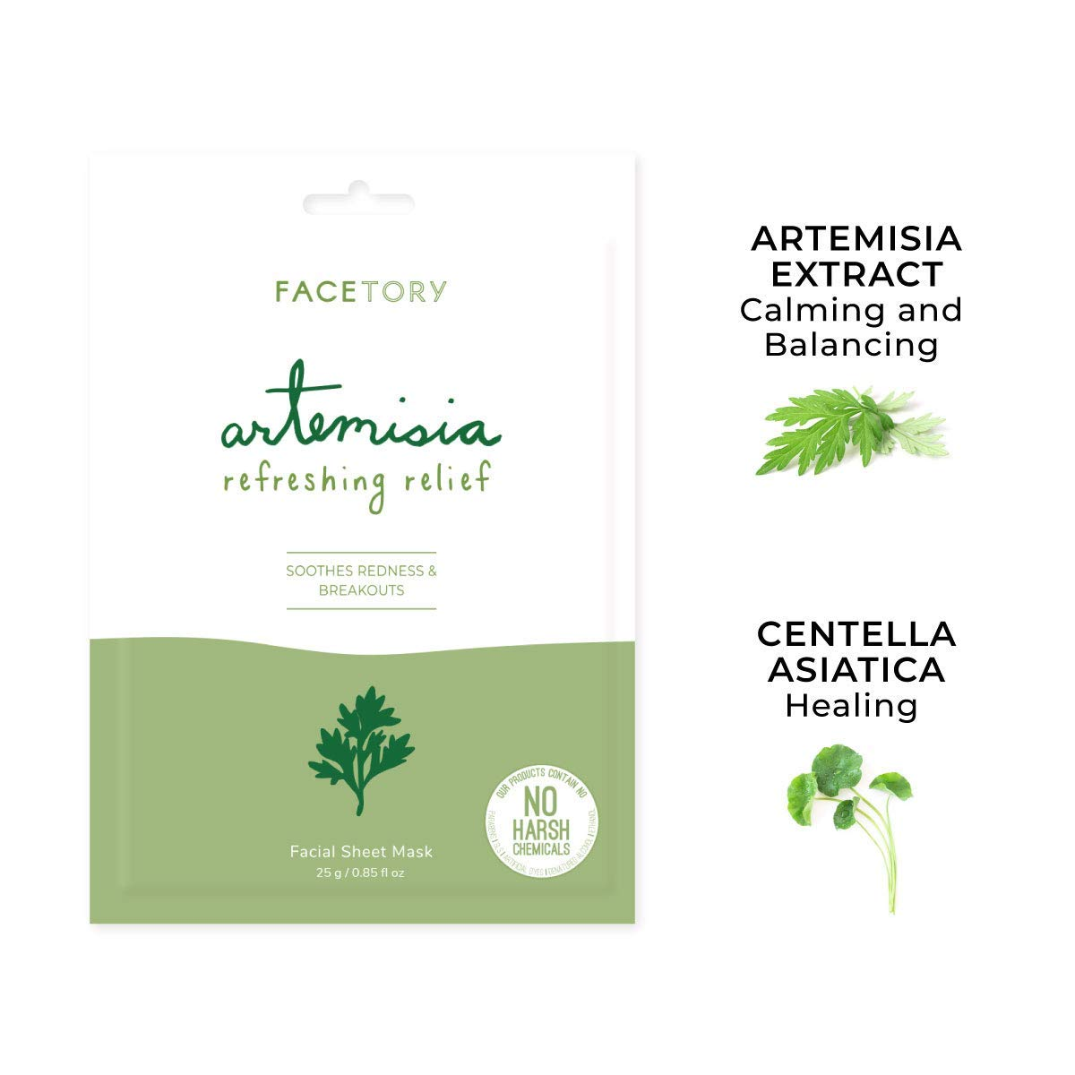 FaceTory Artemisia Refreshing Relief Mask (Pack of 10)