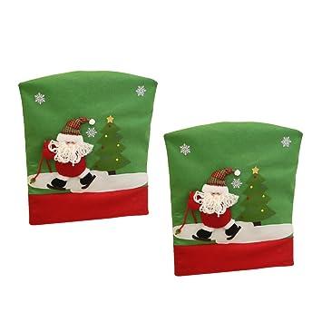 Weihnachtsdeko Stuhl.Amazon De Magideal 2 Stück 50 X 60cm Weihnachtsstuhl Stuhlhussen