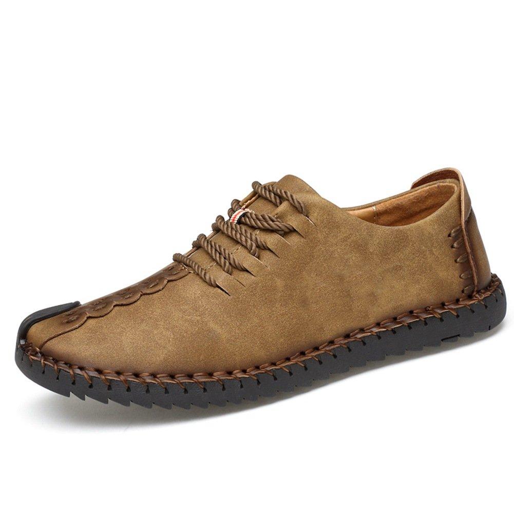 TALLA 39 EU. Zapatos de cuero casual de los hombres Zapatos Planos con Cordones hombre Oxford vestido mocasines zapatos de negocios hechos a mano mocasines de conducción de zapatos