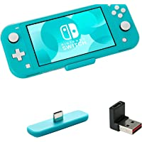 GuliKit Route Air Bluetooth-adapter voor Nintendo Switch/Lite, Draadloze Bluetooth-audiozender met aptX Low Latency, Ondersteuning voor AirPods Bluetooth-hoofdtelefoon Oortelefoon Luidsprekers - Blauw