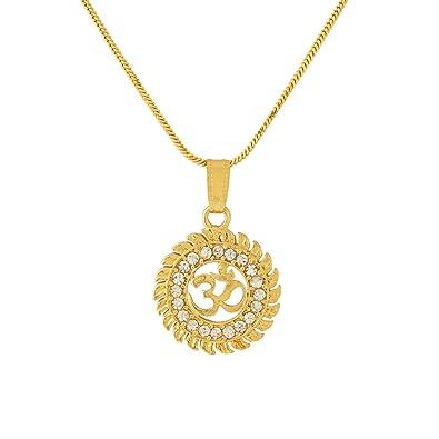 b3552e7be1b2e Voylla Pendant for Men (Golden)(8907617089188)  Voylla Designer  Amazon.in   Jewellery