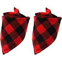 Ownest Classic Dog Plaid Bandana Scarf,Pet Dog Bandanas Bibs Adjustable Triangle Bibs Scarf for…