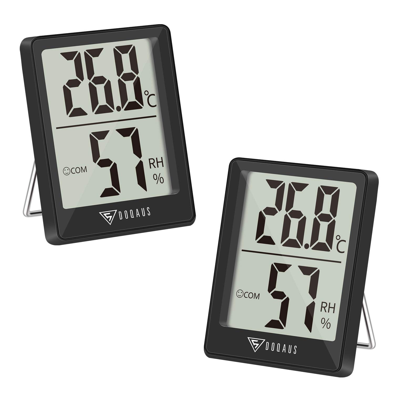 DOQAUS Thermo-Hygrometer, 16 Stück Thermometer Innen Hygrometer