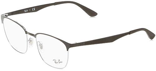 Ray-Ban RX6356 Occhiali in nero su argento lucido RX6356 2861 52