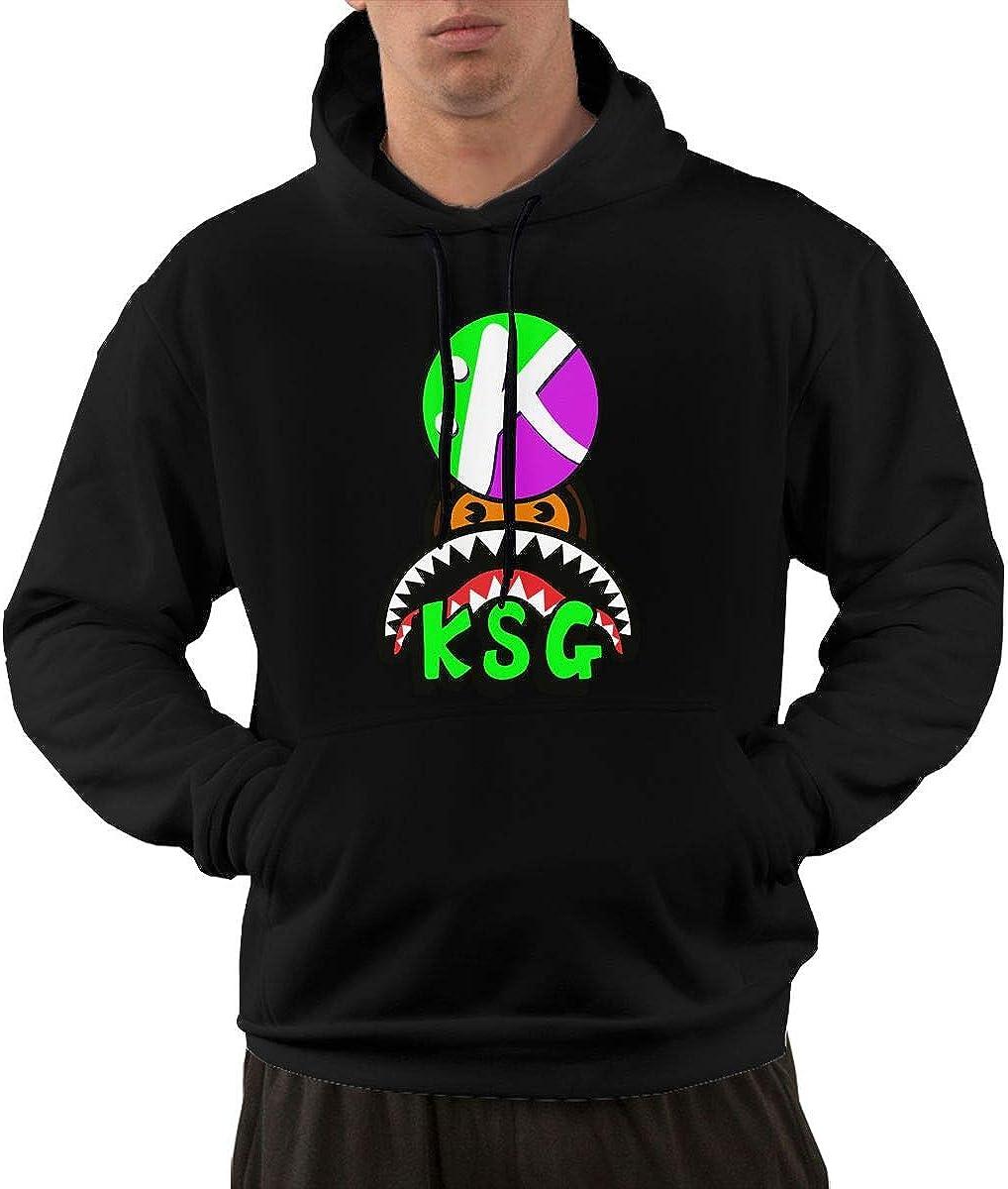 Iponvx KSG Hoodie Mens Casual Workout T-Shirt Hoodie