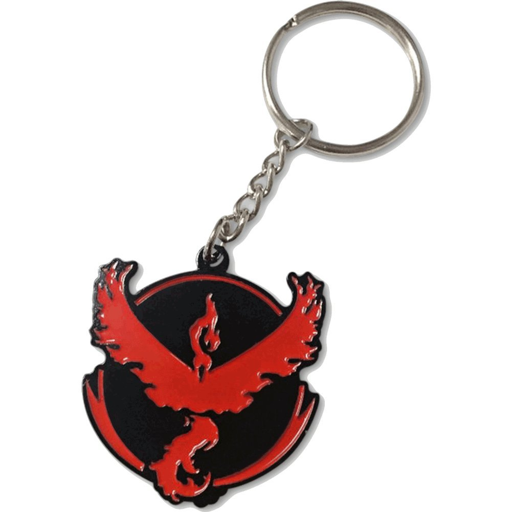 Double Sided Keychain Pokemon GO Plus Keychains Team Instinct Valor Mystic