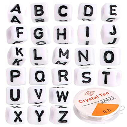 Amazon.com: Letter Beads   600 Pcs Mixed Plastic Acrylic Alphabet