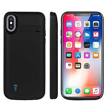 Funda Batería iPhone X, Cofuture Capacidad Grande con 5000mAh Extendida 150% Batería Extra Ultra Delgado Prueba de Choques Potencia iPhone Móvil ...