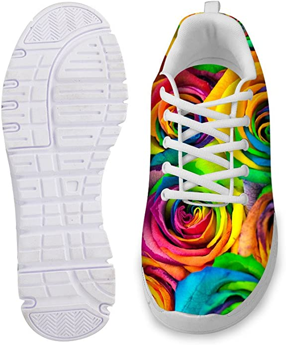 AXGM - Zapatillas de Deporte para Hombre y Mujer, Transpirables, diseño de Flores y arcoíris: Amazon.es: Zapatos y complementos