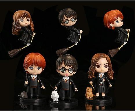 PsWzyze 6 Harry Potter Montando Escoba Mago Hermione Ron ...