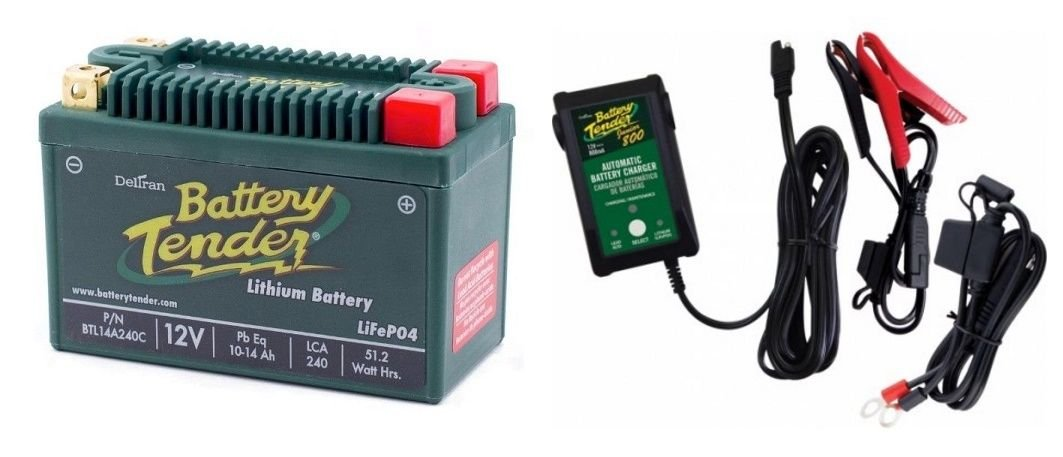 BTL14A240C Lithium 12V 240 CCA + Battery Tender Junior 800 022-0199-DL-WH Combo