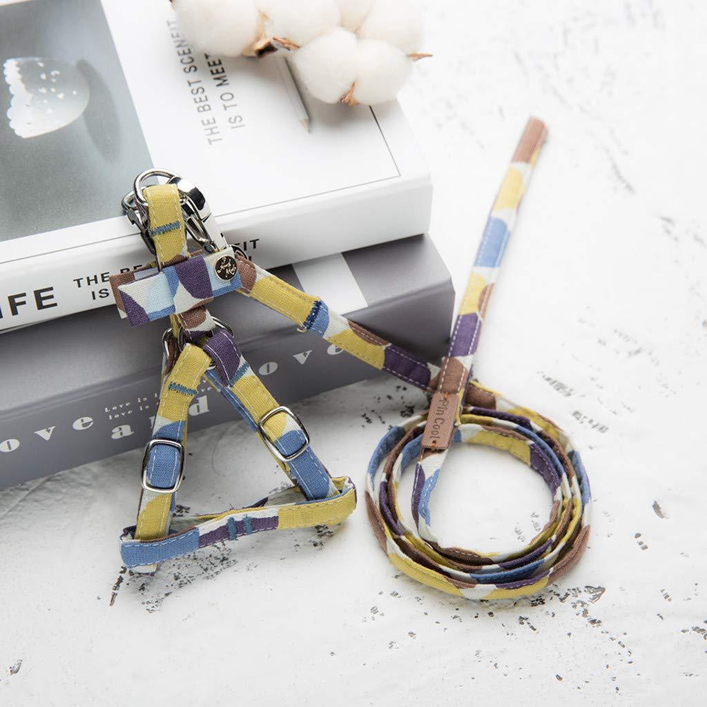 callm Pet Cat Dog Tie Bow Vest Set Cat Dog Chest Straps Belt Set Adjustable by callm (Image #2)