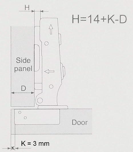 Soft Closing Clip on Plate Full Overlay Concealed Frameless Cabinet Hinge 10