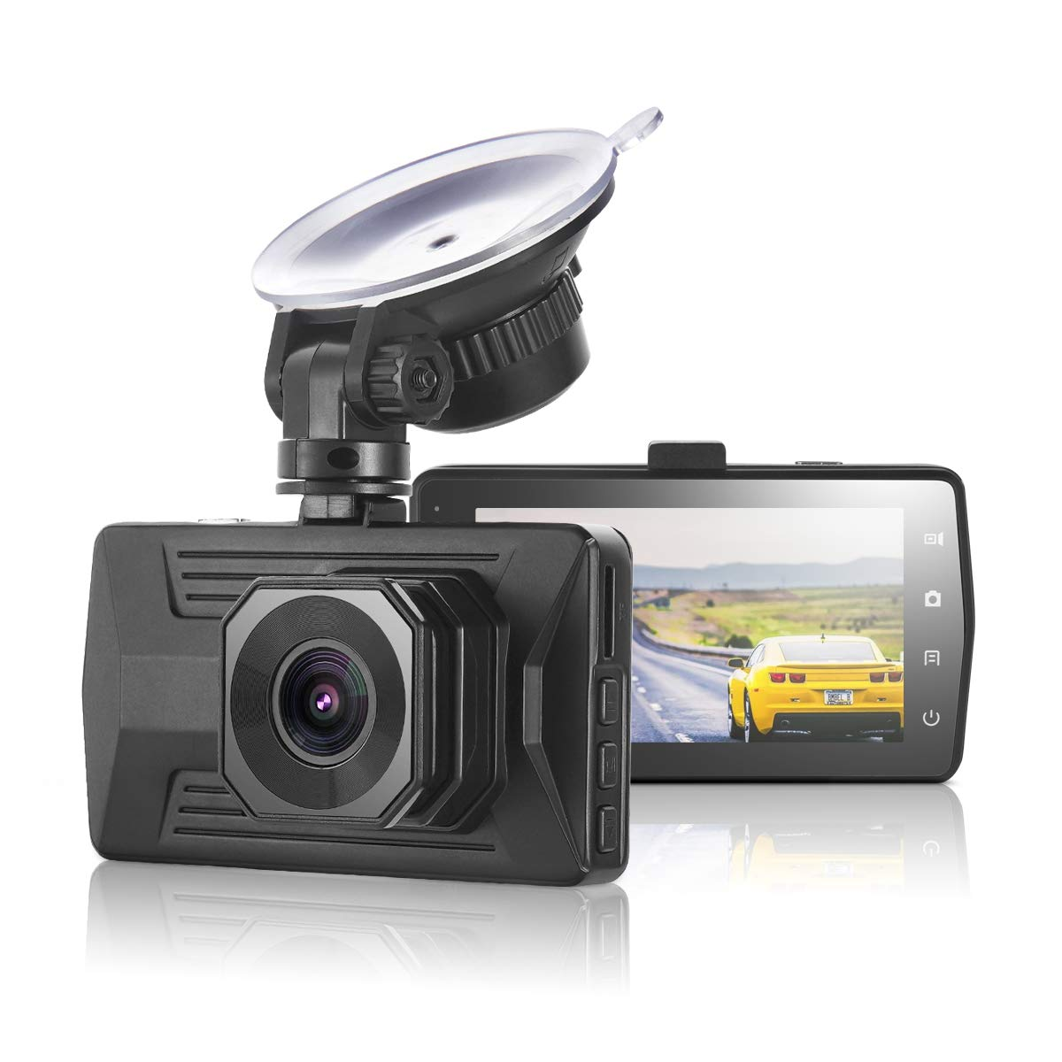 ULU FHD 1080P Car Dash Cam Dash Board Camera 3.0' IPS Screen 170 Degree Wide Angle Car Recorder with WDR, G-Sensor, Motion Detection, Loop Recording