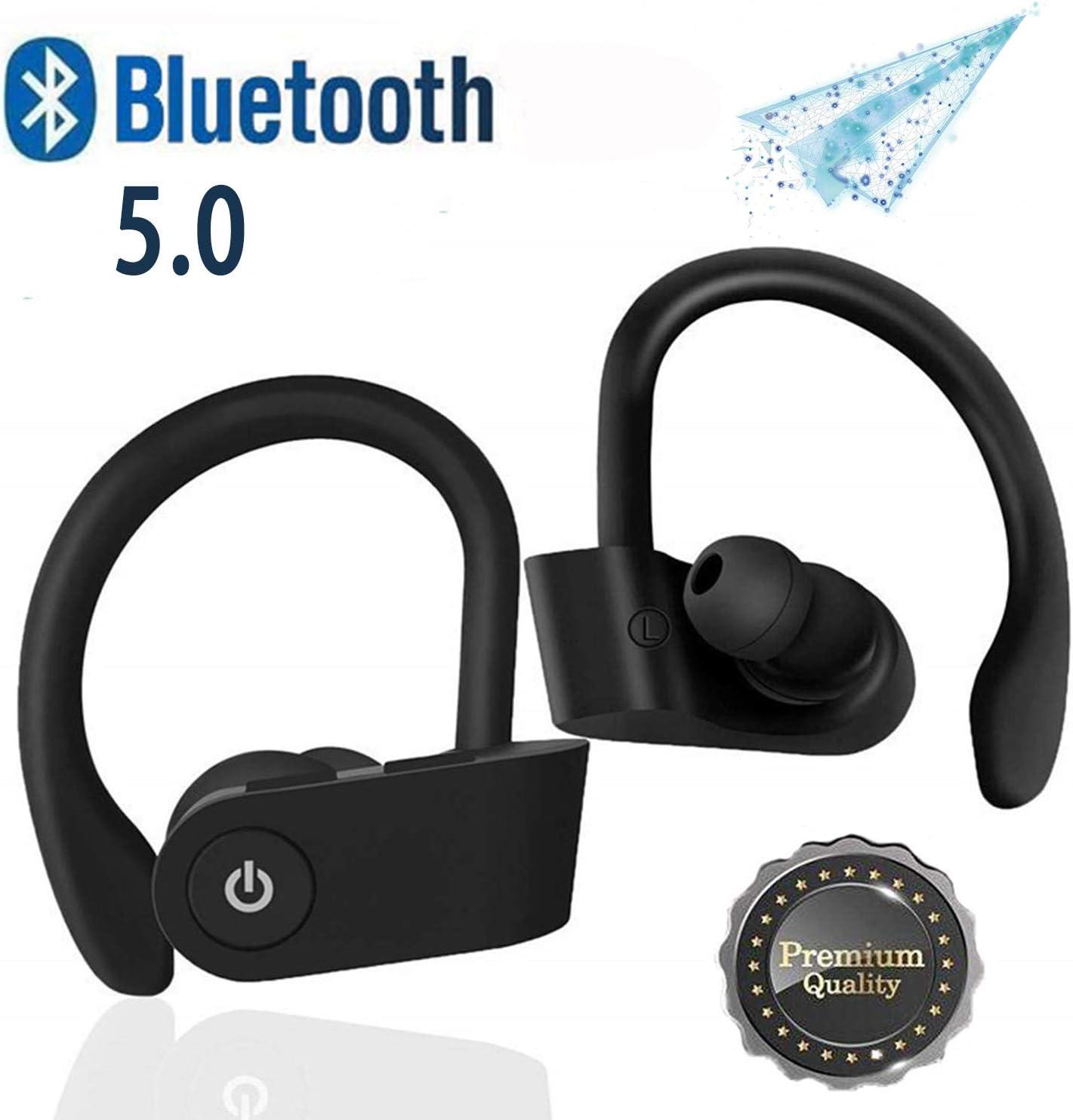 DGDBTJJSJ Auriculares Inalámbricos Bluetooth 5.0, Auriculares estéreo HD IPX5 livianos e Impermeables