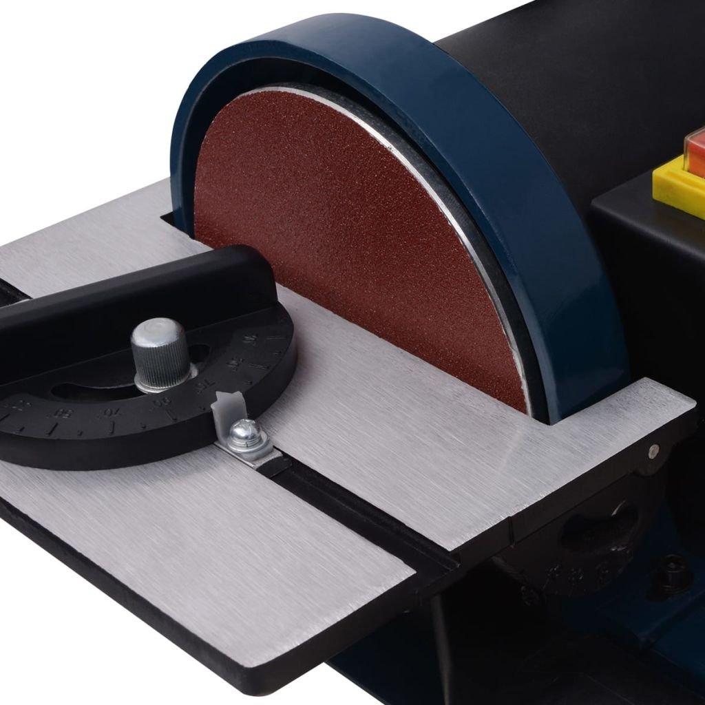 vidaXL Ponceuse /à Bande Disque 300 W Machine /à Polir Ponceuse Meulage Pon/çage