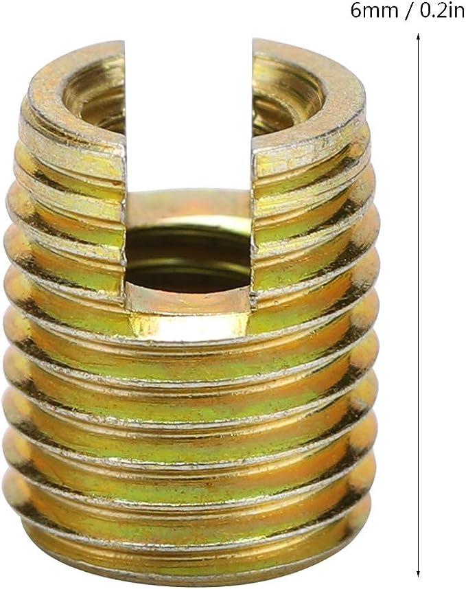 Akozon Gewindeeins/ätze 100 st/ücke M6 Edelstahl SS304 Spiraldraht Helical Gewindeeins/ätze M6*1 * 2 D