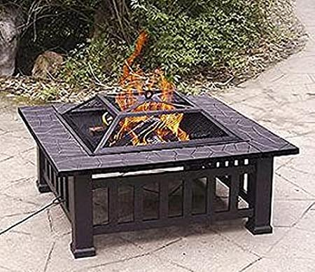 Axxonn 32 Alhambra Fire Pit With Cover Garden Outdoor Amazon Com