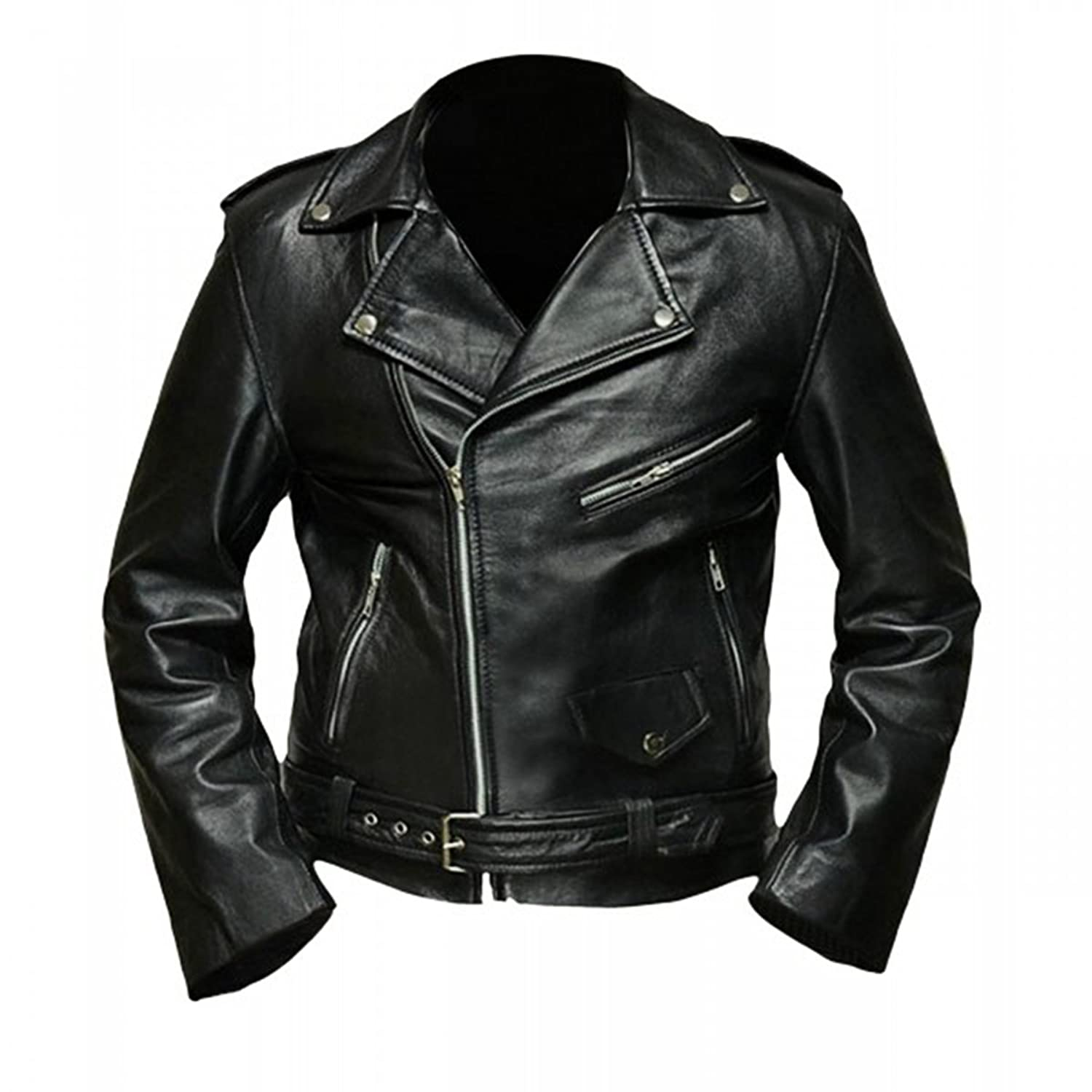 Terminator Arnold Schwarzenegger Real Leather Jacket - Black