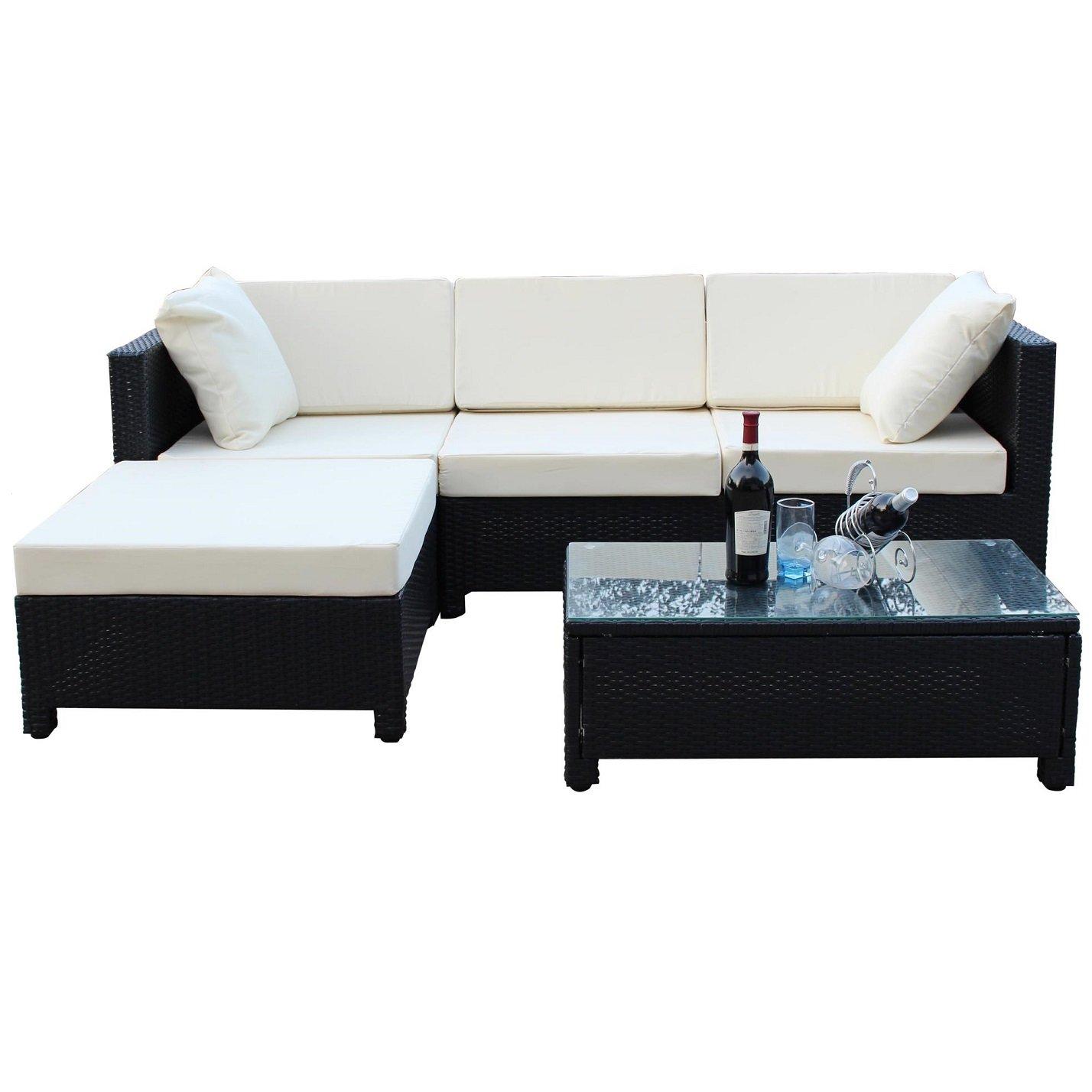 Evre Rattan Outdoor Garden Furniture Coffee Table Sofa Chair Set