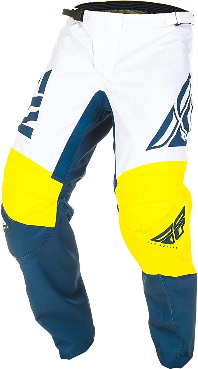 WHITE /& NAVY JERSEY AND PANT GEAR COMBO SX MX 2019 FLY RACING F-16 YELLOW