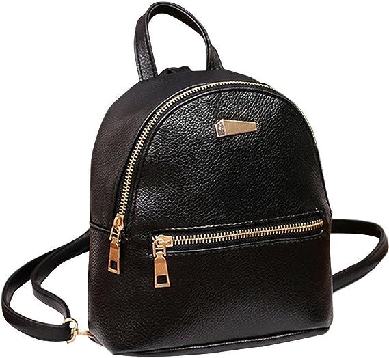 UK/_ LK/_ Women School Bag Faux Leather Solid Color Shoulder Bag Backpack Rucksack