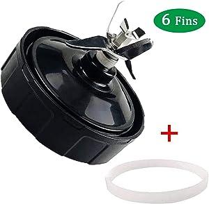 Blender Blade Replacement 6 Fins for Nutri Ninja Blender Cups 18oz 24oz 32oz Smoothie Cups Fit for Ninja BL450-70 BL451-70 BL454-70 BL455-70 BL480-70 BL490-70 BL492-70