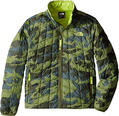 The North Face Boy's Thermoball Full Zip Jacket Terrarium Green Mesh Camo (Prior Season)