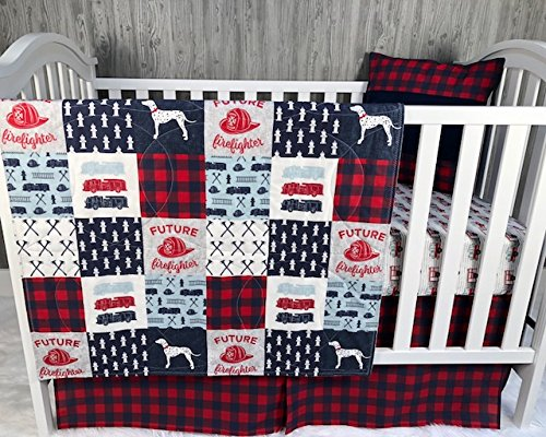 Baby Boy Nursery Set , Baby , Firefighter , Fire Truck , Fire Fighter, Baby Bedding , Crib Bedding , Babylooms from Babylooms