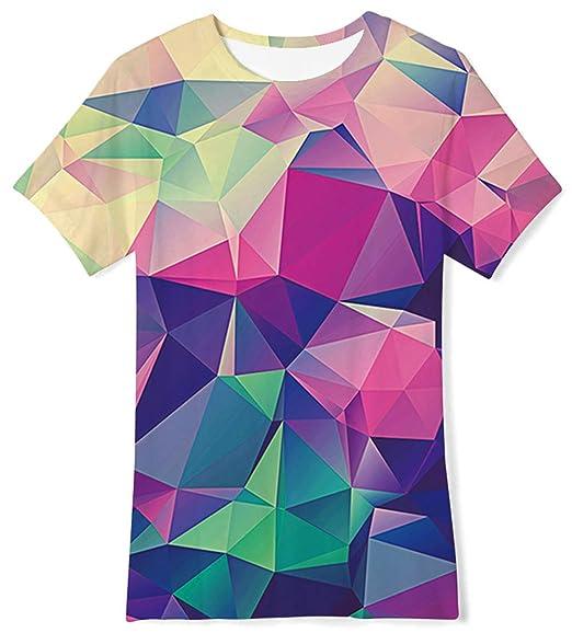 5ccdb814de625 BFUSTYLE Boys Girls 3D Print Cool T-Shirt Teen Kid Short Sleeve Pullover  Tees