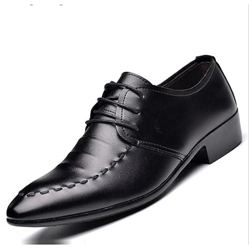 Zapatos de Cuero para Hombres Zapatos de Cuero con Cordones Trabajo Formal de Trabajo Mocasines cómodos
