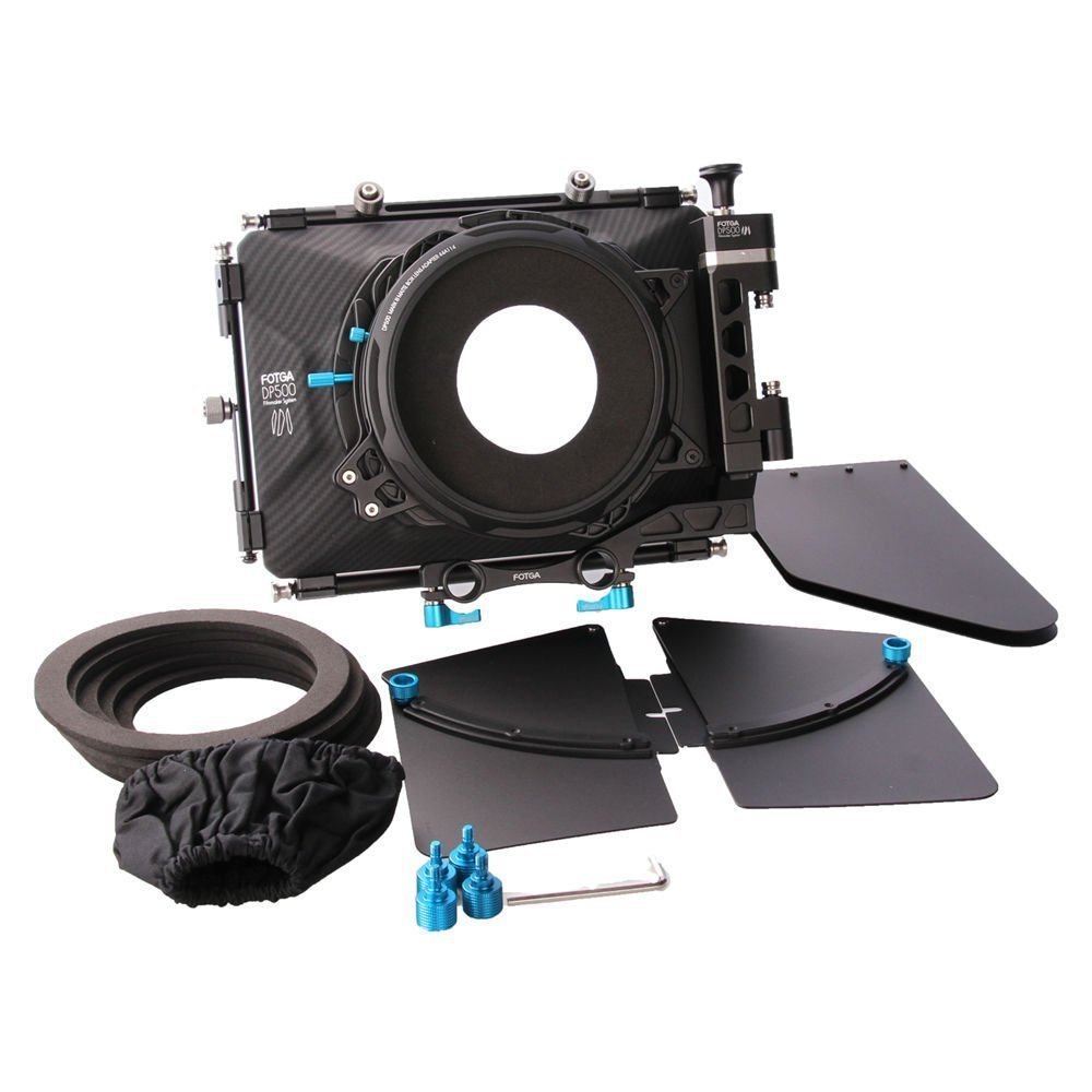 FocusFoto FOTGA DP500 Mark III Professional Metal DSLR Swing-away Matte Box Sunshade with Filter Trays for 15mm Rail Rod Rig System 5D2 5D3 A9 A7 A7R A7S II D850 GH4 GH5 BMPCC BMCC Cine Video Camera by FocusFoto (Image #6)