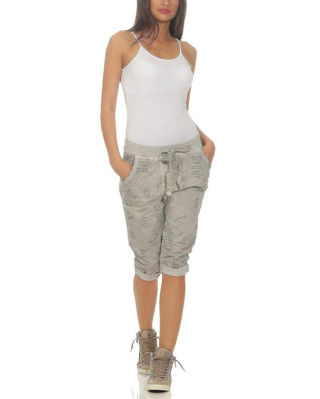 ZARMEXX Pantaloni corti Capri Pantaloncini bermuda da donna Pantaloncini leggeri lavati e leggeri dal look vintage