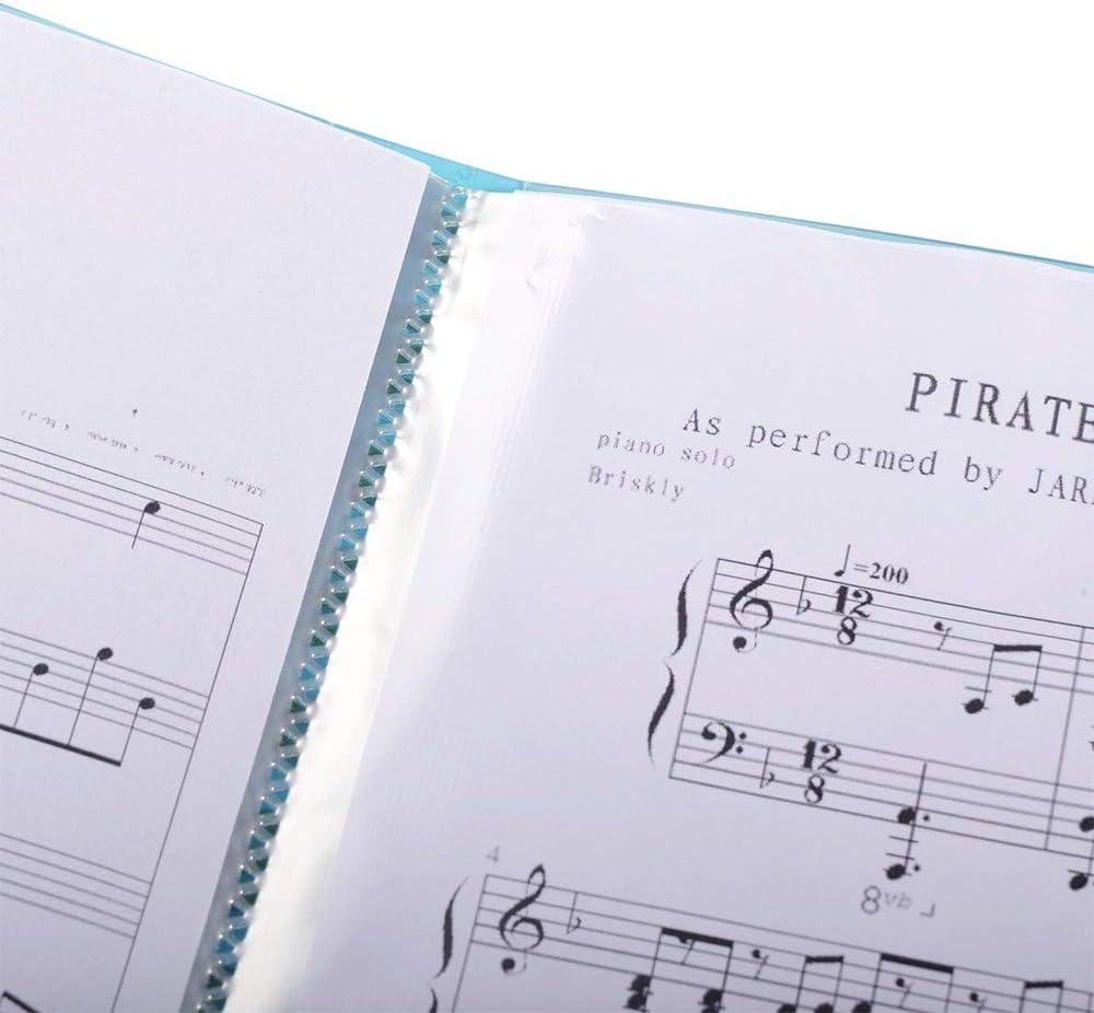 Gzq Musique Folder 40/poches Affichage sur le th/ème de la musique livre chanson support plaque de stockage Taille A4 Noir