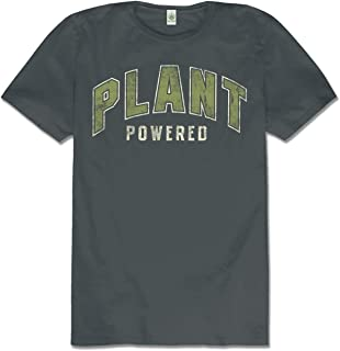product image for Soul Flower Men's Plant Powered Organic Cotton Short Sleeve T-Shirt - Charcoal Grey Crew Neck Unisex Tee