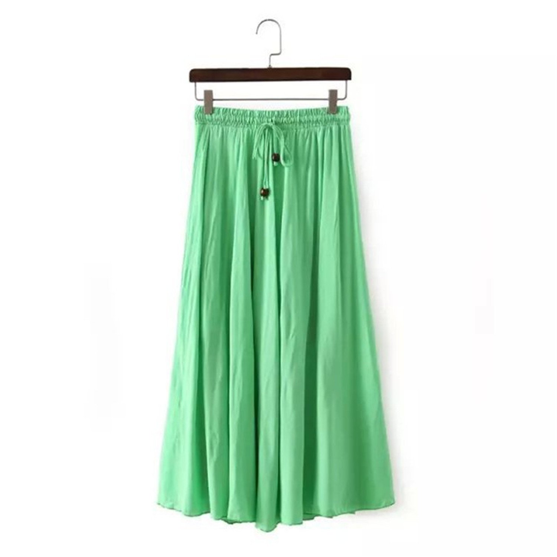 JIANGTAOLANG Womens Casual Long Skirt Vintage Empire Elegant Formal Skirts