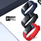 AUPALLA 21BP PRO Fitness Wristband Professional Blood Pressure Heart Rate Monitor Colourful Large Screen Pedometer Calories Track Sleep Monitor GPS Stopwatch