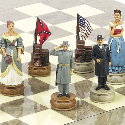 American Civil War Chessmen Extra Large Chessmen. King: 4 5/8