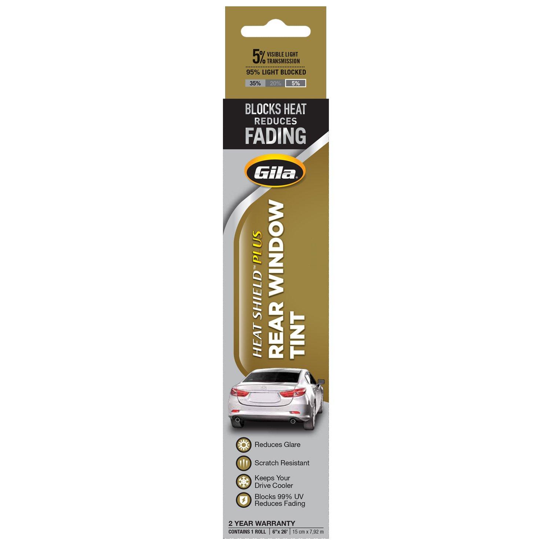 GILA USS46 Ultra Shield Dark Smoke 35-Percent Scratch Resistant Heat Plus UV Protection Automotive Window Tint