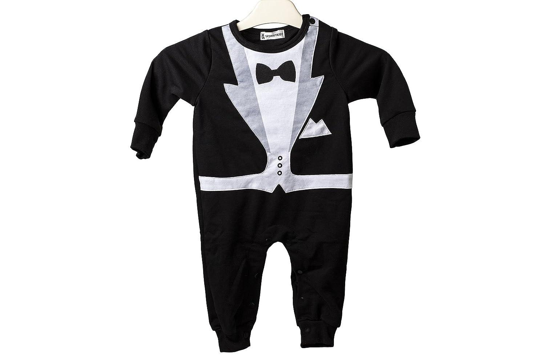 1cc9626c4865 Baby Tuxedo Gentleman Romper Onesie Great for Party Wedding Xmas (80cm