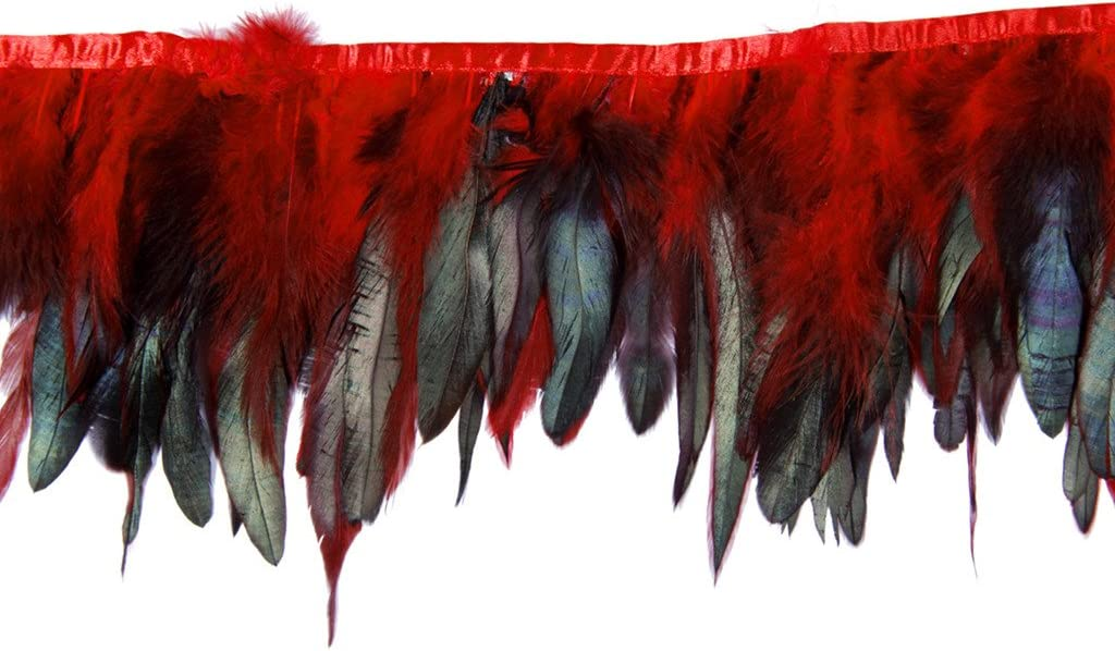 Cocktail Feather,Hgshow Feathers Fringe Trim Quantity Size 72-Inch