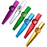 Anpro Set of 6 Colorful Mouth Kazoo with 6 Membrane Flute, Music Instrument Toy for Kids, Music Lover