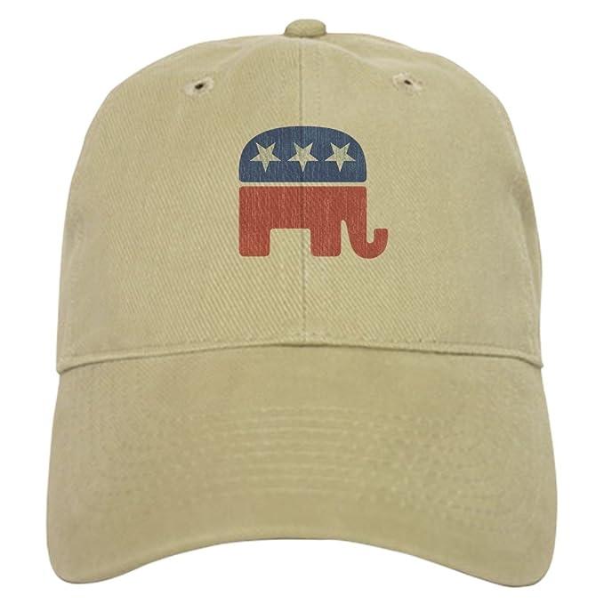 7cc182057 Amazon.com  CafePress - Old Republican Elephant - Baseball Cap with  Adjustable Closure