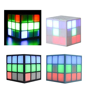 Speakers New Rubiks Cube Shape Wireless Bluetooth Speaker Colorful Flashlight Portable Personalized Mini Card Insert Small Speaker