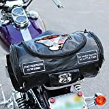 Live To Ride Genuine Buffalo Leather Motorcycle Barrel Ba...