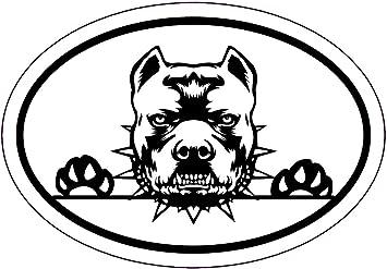 Pitbulls Label Car Bumper Sticker Decal 4/'/' x 5/'/'
