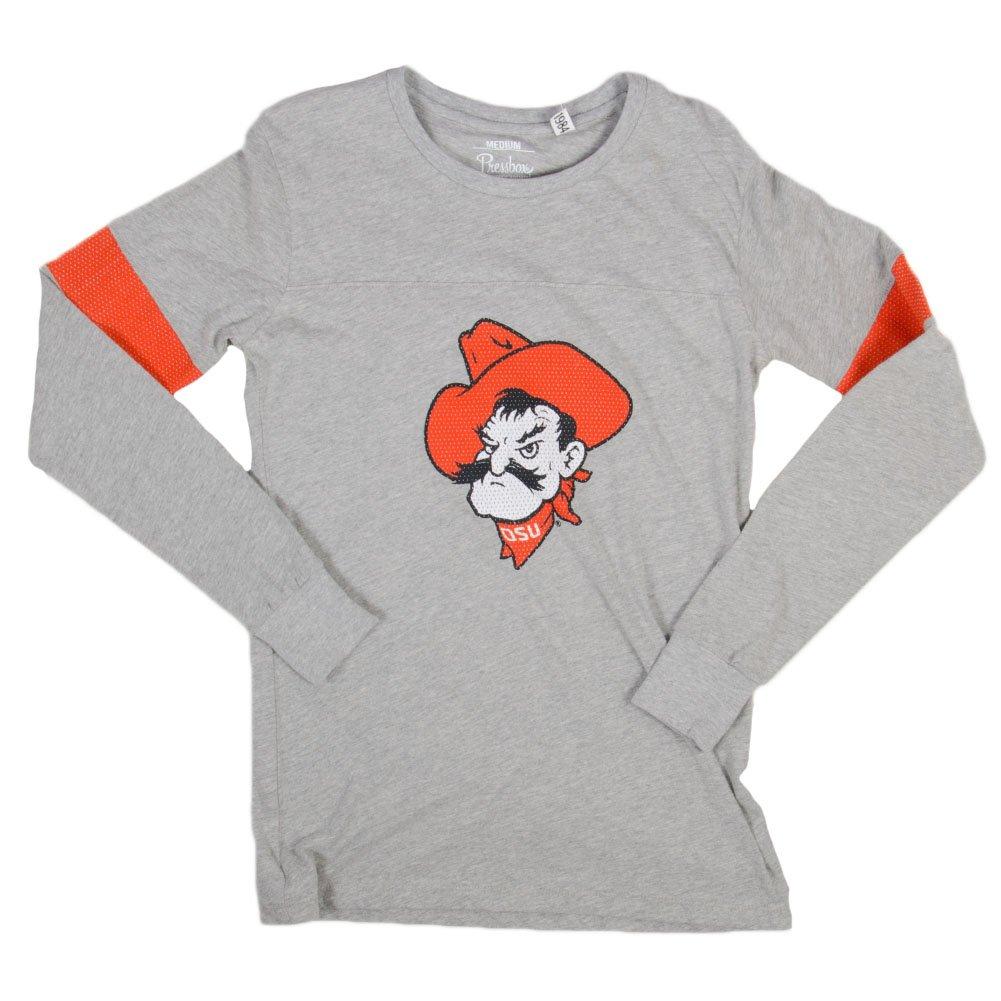 Press Box Pressbox Women s Astro OSU Shirt Grey Orange at Amazon Women s  Clothing store  cf7ac52680