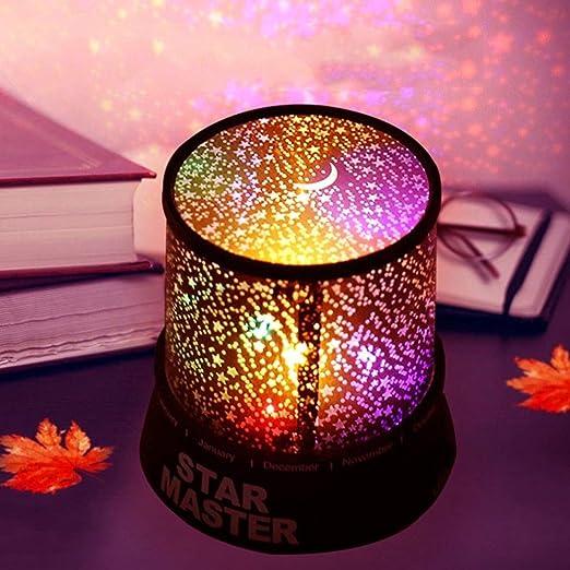 Lámpara LED de proyección de Colores LED Proyector de luz Nocturna ...