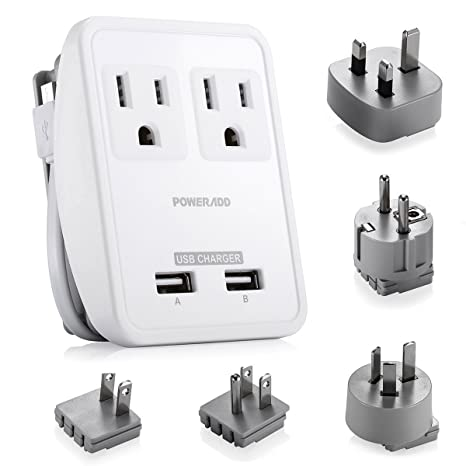 Poweradd [UL Listed] Universal Travel Adapter Electrical Outlets ...