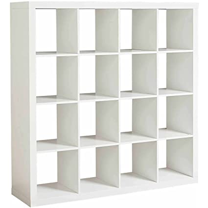 Better Homes And Gardens Versatile Multiple Storage 16 Cube Organizer In  White Finish